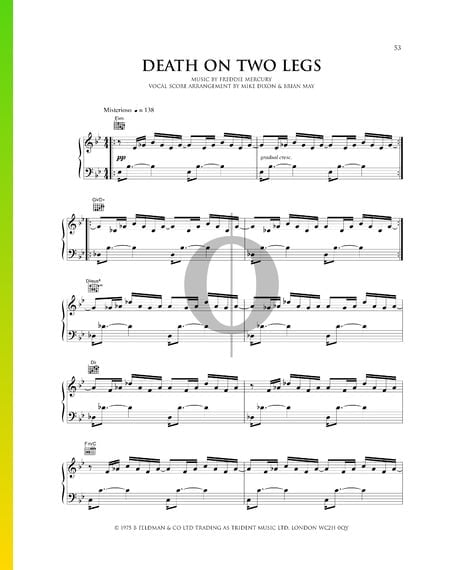 Death On Two Legs Sheet Music