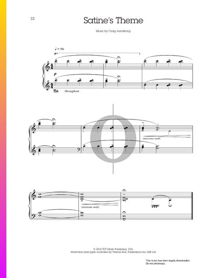 Satine's Theme Musik-Noten