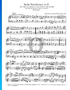 6 Variations en Sol Majeur, KV 180 (173c)