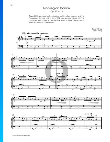 Norwegischer Tanz, Op. 35 Nr. 2 Musik-Noten