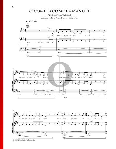 O Come O Come Emmanuel Sheet Music