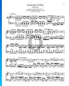 Concerto en Sol Majeur, BWV 980: 1. Allegro