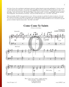 Come, Come Ye Saints (Praise To The Man)