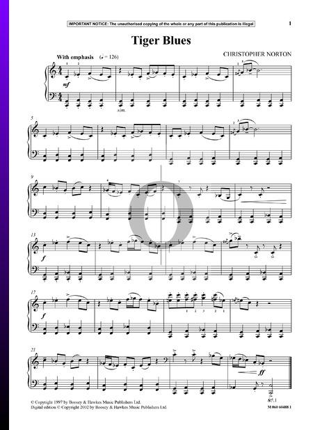 Tiger Blues Sheet Music