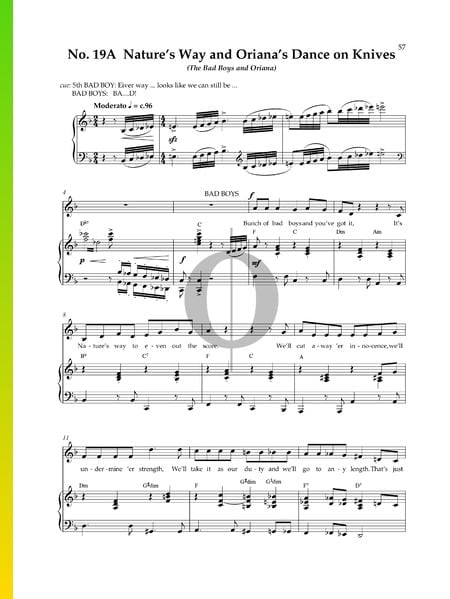 Nature's Way and Oriana's Dance On Knives Sheet Music