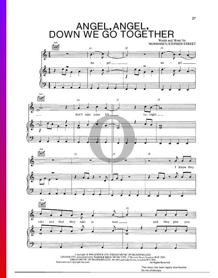 Angel, Angel, Down We Go Together Sheet Music