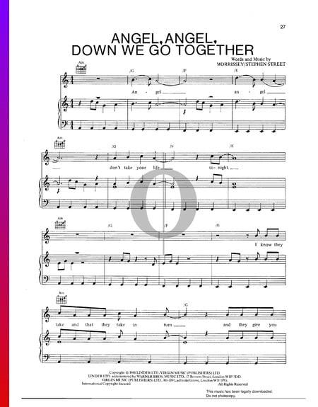 Angel, Angel, Down We Go Together Musik-Noten