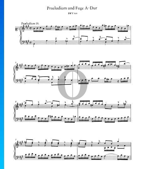 Prelude 19 A Major, BWV 864 Sheet Music