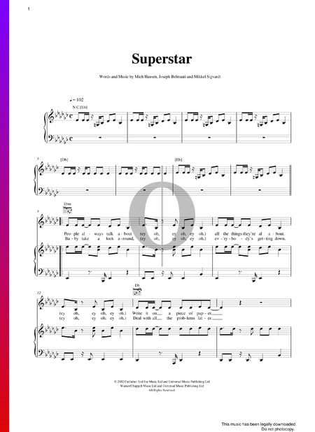 Superstar Sheet Music