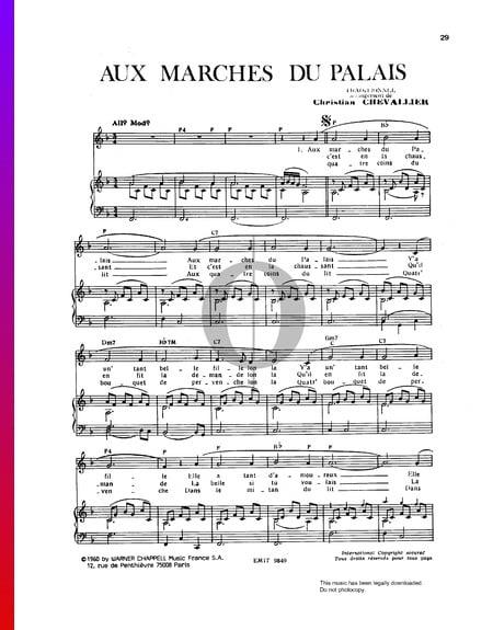 Aux Marches Du Palais Sheet Music