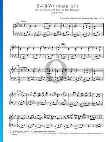 Douze Variations en Mi bémol Majeur, KV 353 (300f)