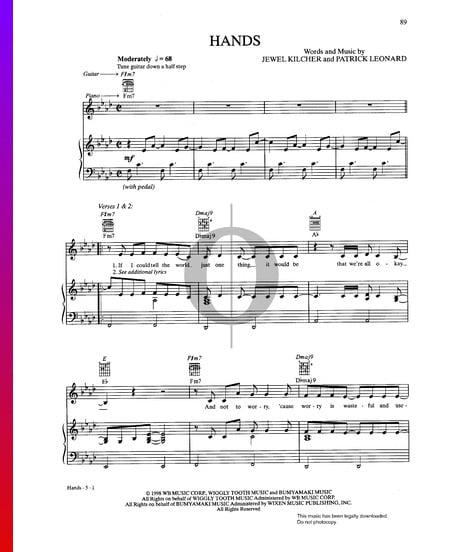 Hands Musik-Noten