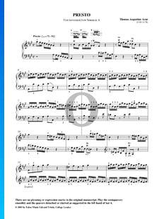Sonate No. 7 en La Majeur: 1. Presto
