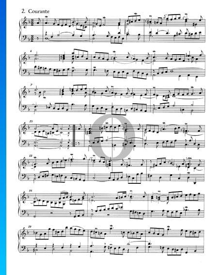 Suite francesa n.º 1 en re menor, BWV 812: 2. Courante Partitura