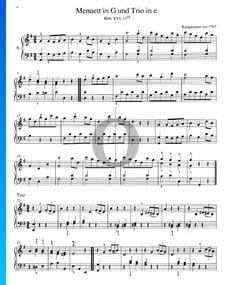 Minueto en sol mayor y Trio en mi menor, Hob. XVI:11/III