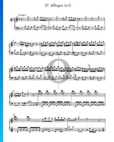 Allegro in C-Dur, Nr. 27