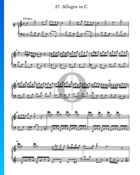 Allegro in C Major, No. 27 Sheet Music