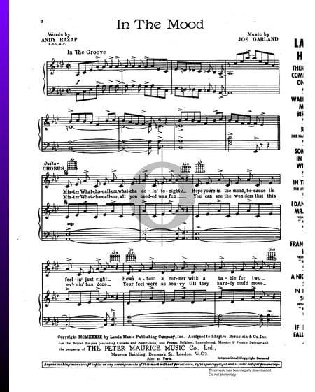 In The Mood Musik-Noten