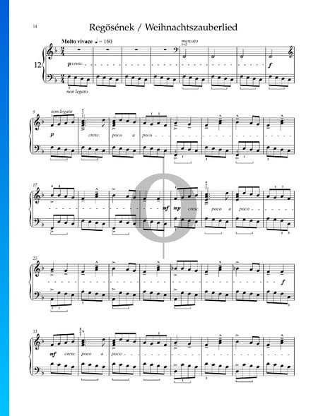 Für Kinder, Sz. 42 Vol. 1: Nr. 38 Weihnachtszauberlied Musik-Noten