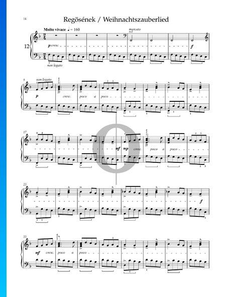 Para los niños, Sz 42 Vol. 2: n.º 38 Canción del solsticio de invierno Partitura