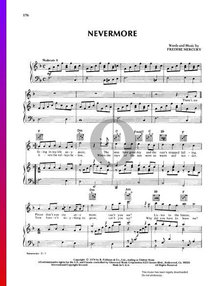 Nevermore Sheet Music