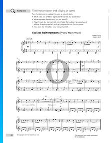 Stolzer Reitersmann, Op. 47 Nr. 2