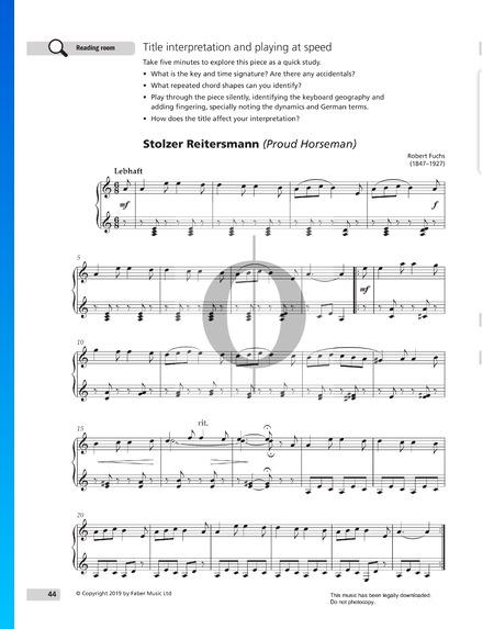 Stolzer Reitersmann, Op. 47 Nr. 2 Musik-Noten