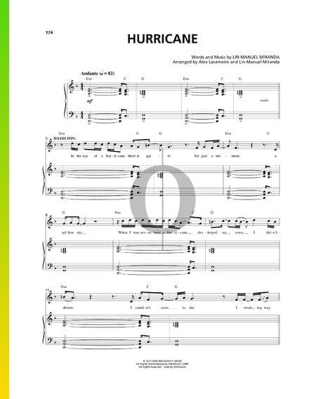 Hurricane Musik-Noten
