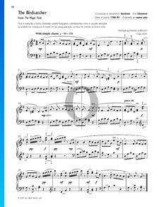 La flauta mágica, KV 620: Der Vogelfänger bin ich ja