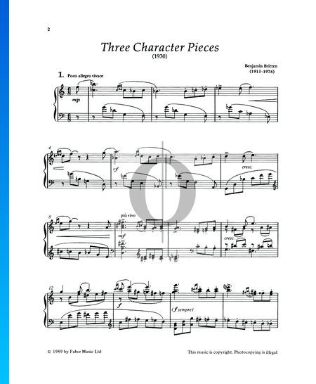 Three Character Pieces: No. 1 John Musik-Noten