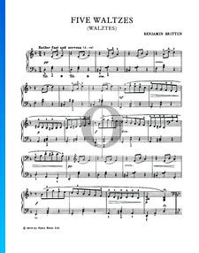 Fünf Walzer, Op. 3 Nr. 1