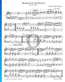 Minuet en Do Majeur et Trio en Mi mineur, Hob.IX: 8 No. 10