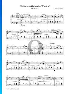 Valse en La bémol Majeur, Op. 69 No. 1 (Valse de l'adieu)
