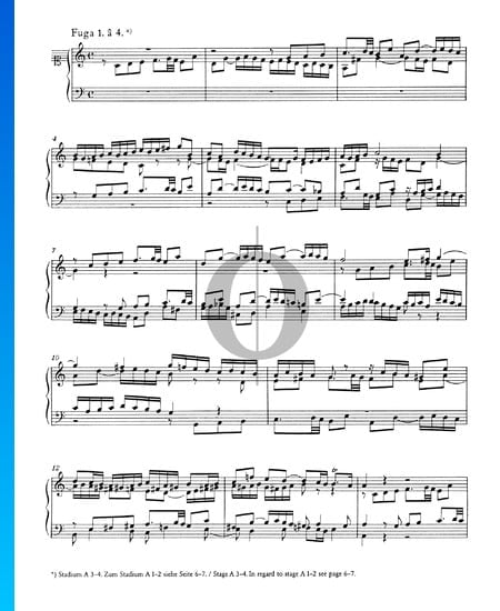 Fuge 1 C-Dur, BWV 846 Musik-Noten