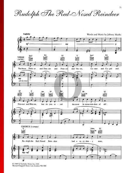 Rudolph The Red-Nosed Reindeer Musik-Noten
