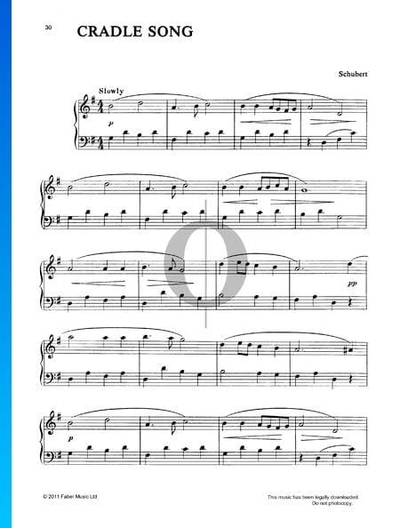Canción de cuna, D 498 - Op. 98 n.º 2 Partitura