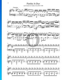 Partita in A Major, BWV 1006: 1. Preludio
