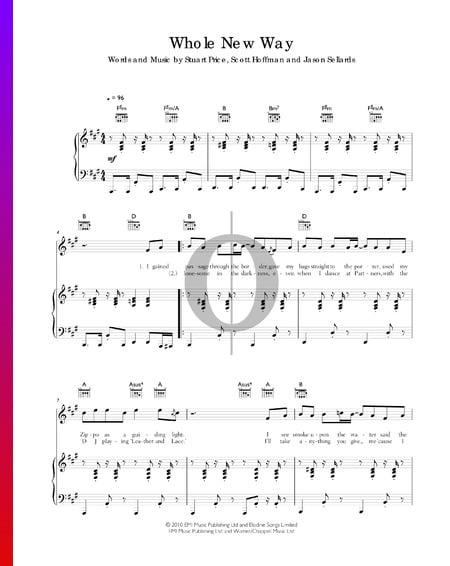 Whole New Way Musik-Noten