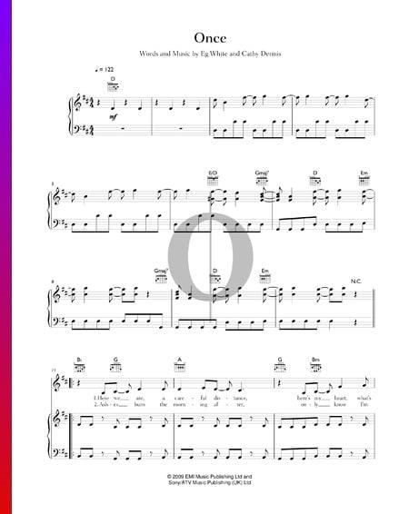 Once Musik-Noten