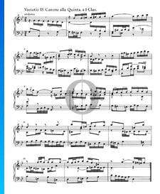 Variaciones Goldberg, BWV 988: Variación 15. Canone alla Quinta. a 1 clave