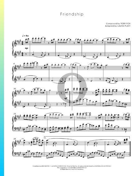 Friendship Musik-Noten