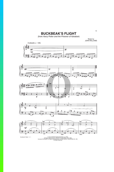 Buckbeak's  Flight Musik-Noten