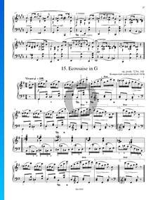 Ecossaise in G-Dur, Op. posth. 72 Nr. 3/II