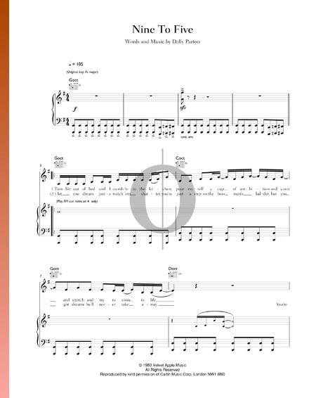 Nine To Five Musik-Noten