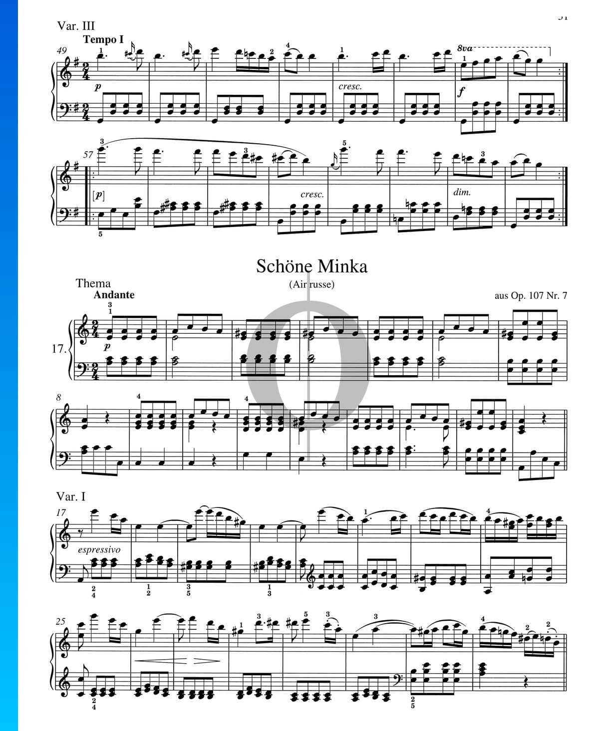 schöne klavierstücke noten