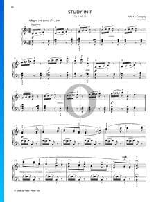 Étude en Fa Majeur, Op. 7 No. 20