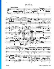 Skizze - Klavierstück in B-Dur
