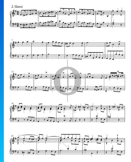 Concerto in G Major, BWV 592a: 2. Grave Sheet Music
