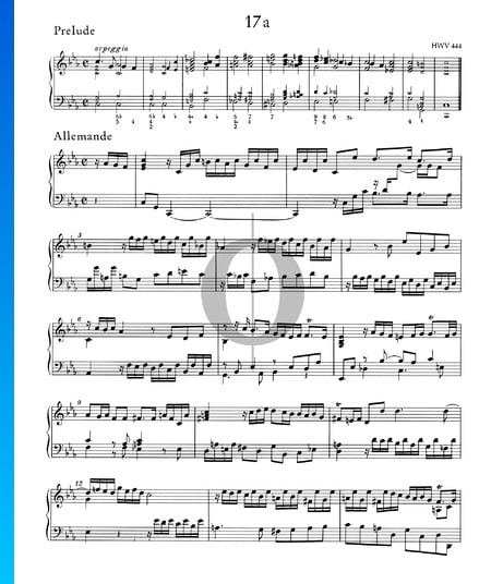Partita c-Moll, HWV 444: 1./2. Präludium und Allemande Musik-Noten