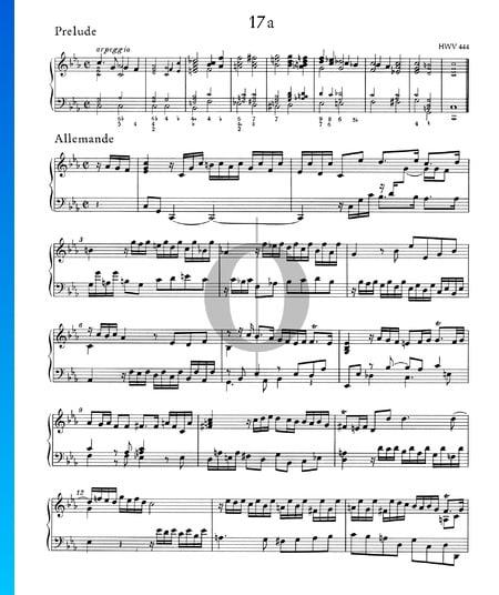 Partita en Do mineur, HWV 444: 1./2. Prélude et Allemande Partition